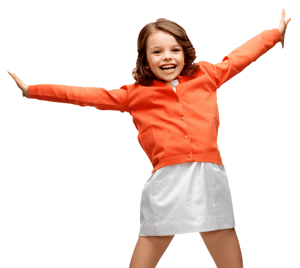 Trampoliinilla hyppäävä tyttö